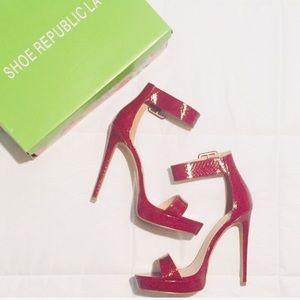 💥Brand New Shoe Republic LA Snake Peep Toe Heels
